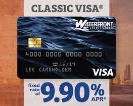 Classic Visa ~ fixed rate of 9.90% APR*